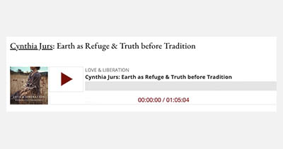Cynthia Jurs: Earth as a Refuge and Truth before Tradition: Podcast